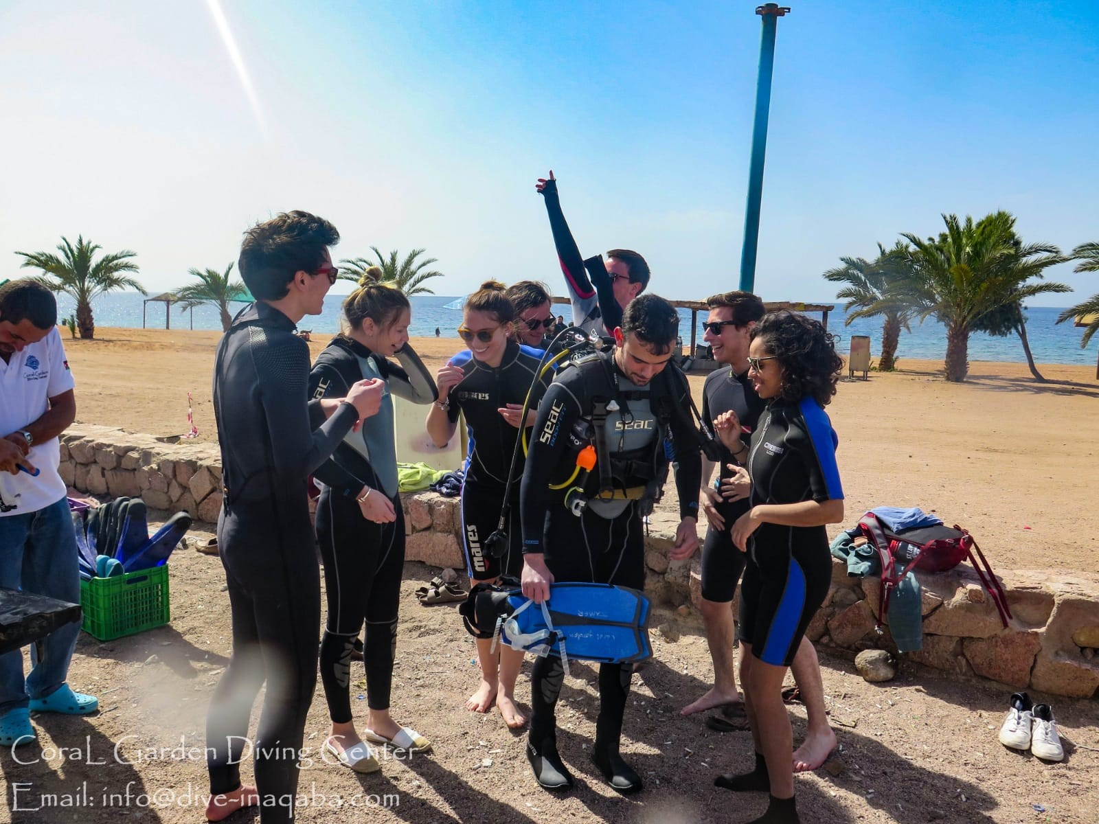 Our first group trip was to Aqaba and we went scuba diving!! It was a great weekend. Photo credit: Arguin, 2019
