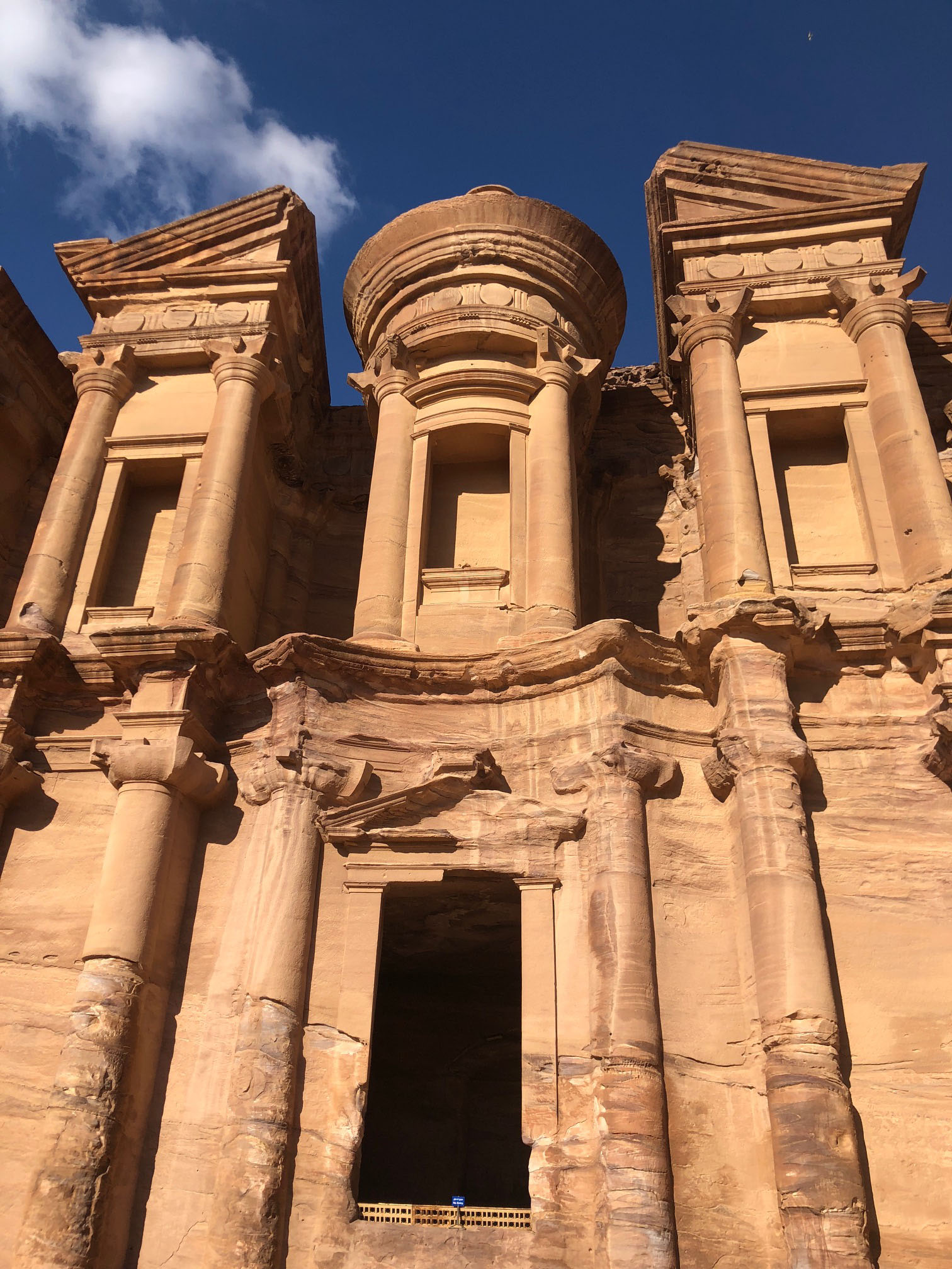 We also had another excursion to Petra through Amideast, this was taken at the Monastery, which was so worth the trek! Photo credit: Arguin, 2019