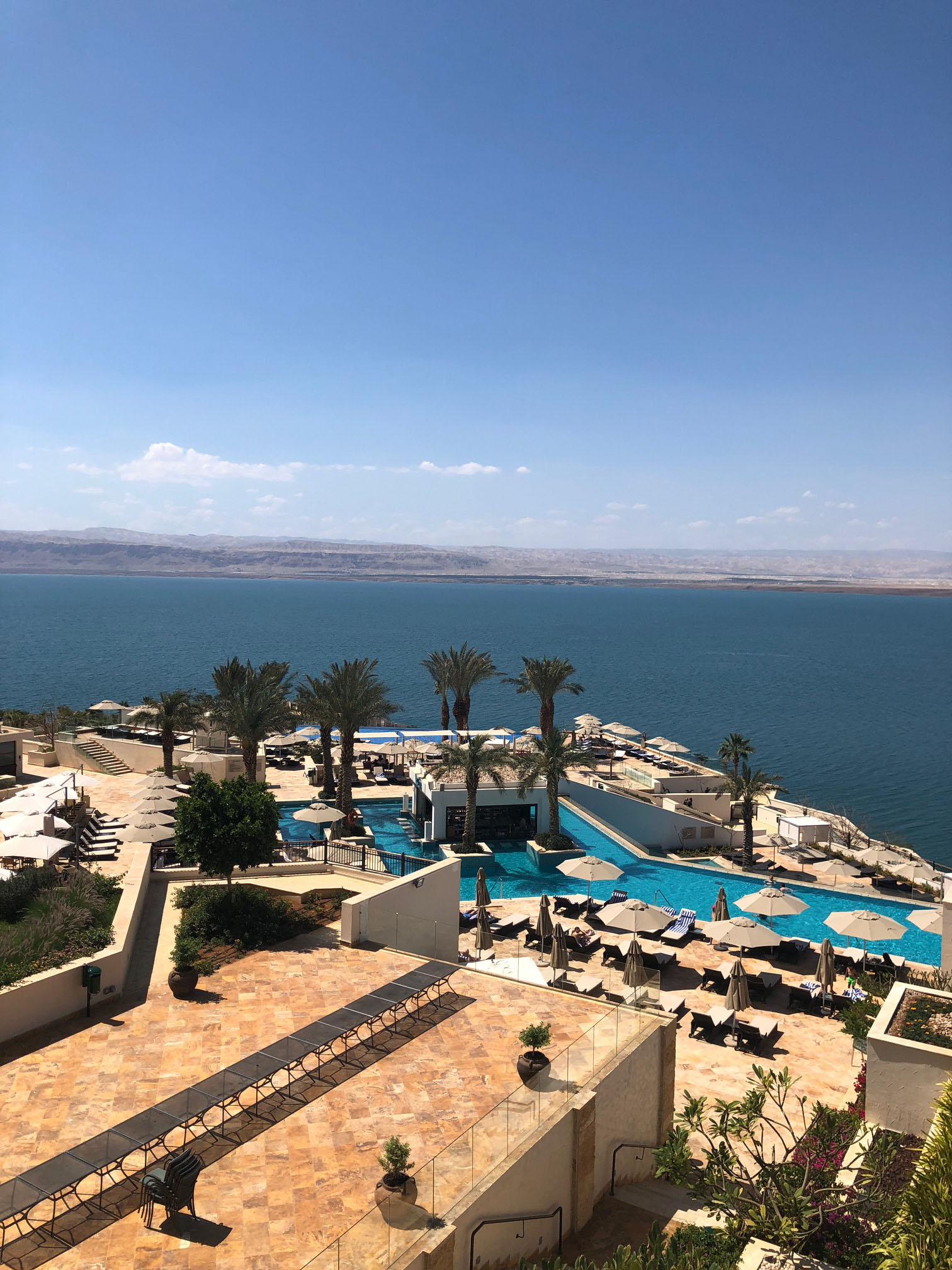 Our last Amideast excursion was to the Dead Sea, we stayed at the Hilton. It was amazing! Photo credit: Arguin, 2019
