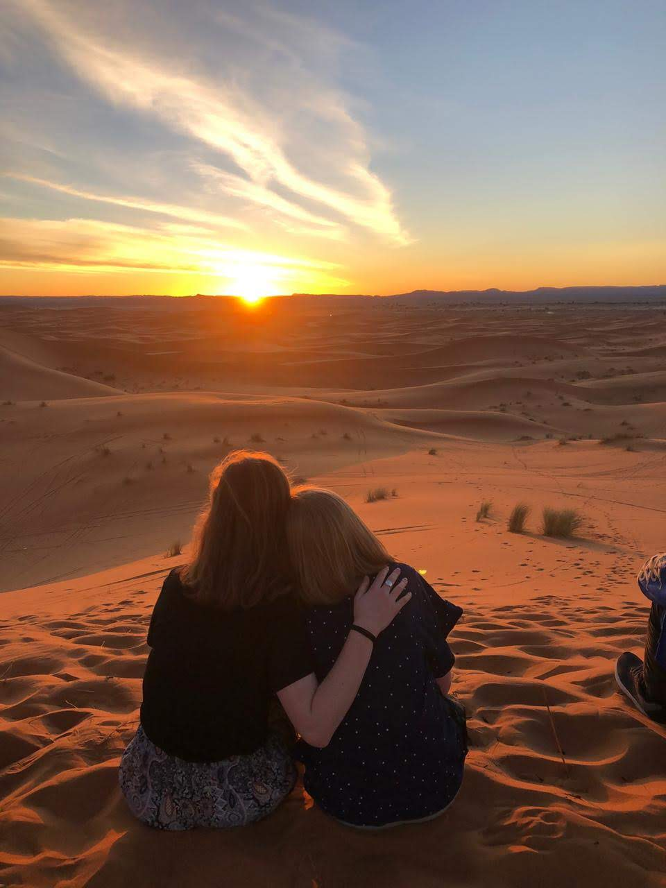 Merzouga and the dunes of the Sahara, breathtaking and otherworldly, cast into doubt everything I thought I knew about the world. In the middle of miles and miles of sand, and under a sky full of stars unlike anything I had ever seen, I shared the most incredible trip with the loveliest people. Photo credit: Fisher, 2019