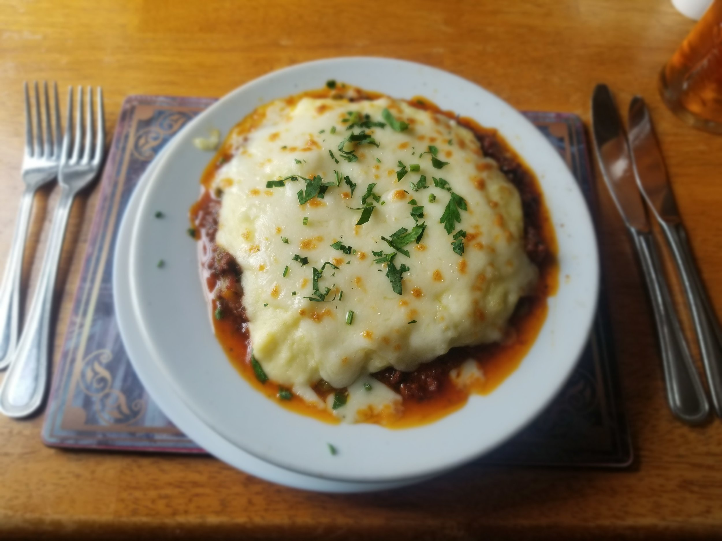 As a Sheppard's pie fanatic, finding a great meal of it was a must on my list. Photo credit: Morrill, 2019