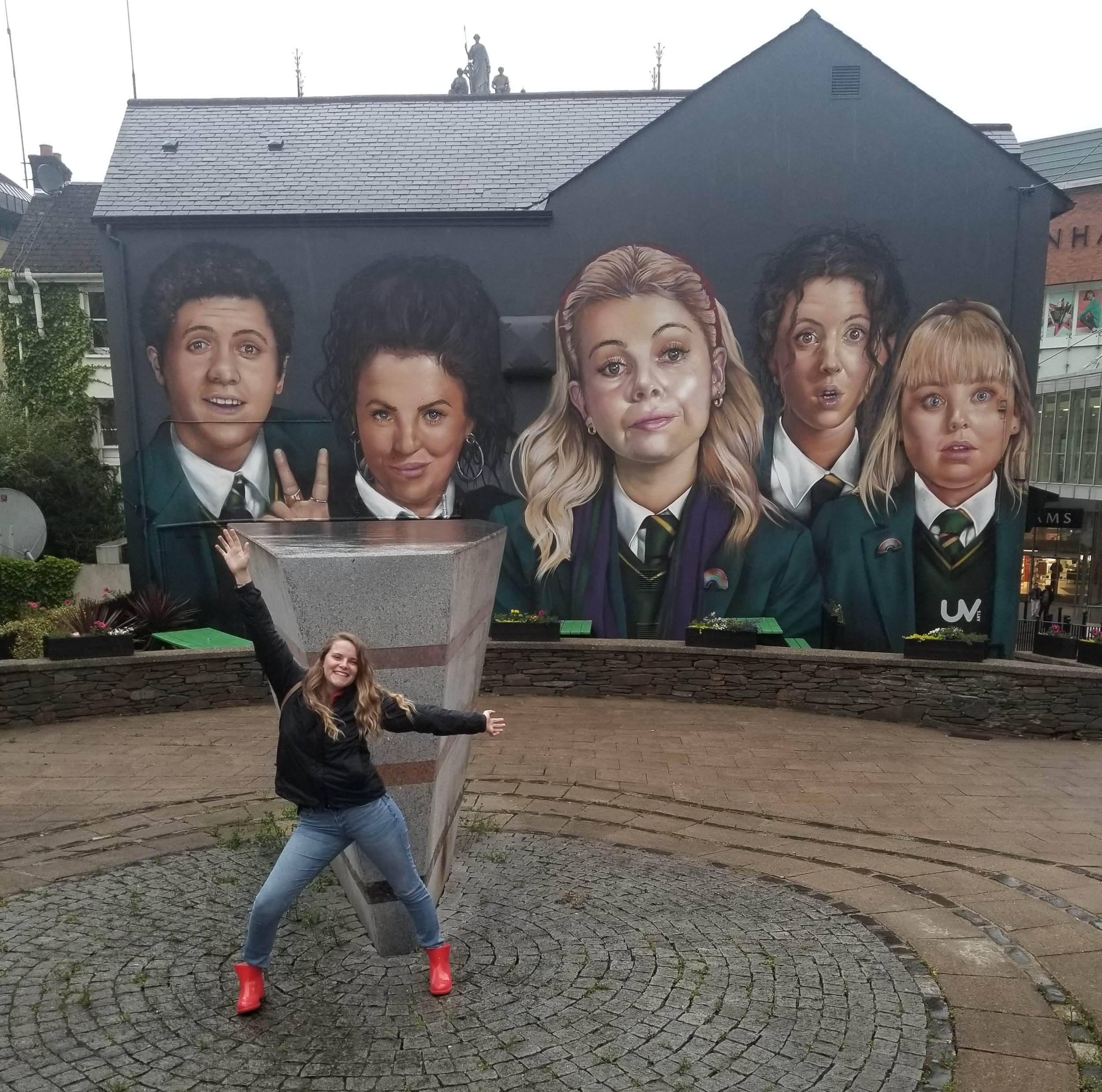 At the end of a very emotional, tiring day, a photo with a mural of one of your favorite shows is a must! Visiting Derry-Londonderry was an amazing way to conclude my time on the island of Ireland. Photo credit: Morrill, 2019
