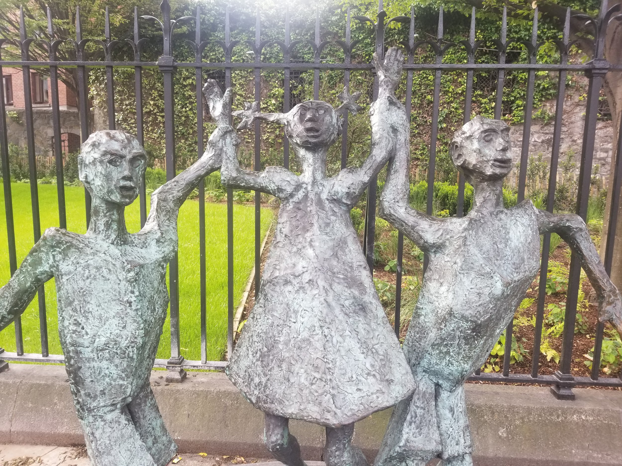 Today, the legacy of the famine can be seen worldwide through the spread of Irish culture, education, and familial ties in places such as the United States, Canada, and Australia. These statues can be found in a few places around the city of Dublin honoring the suffering of the Irish during this tragedy. Photo credit: Morrill, 2019