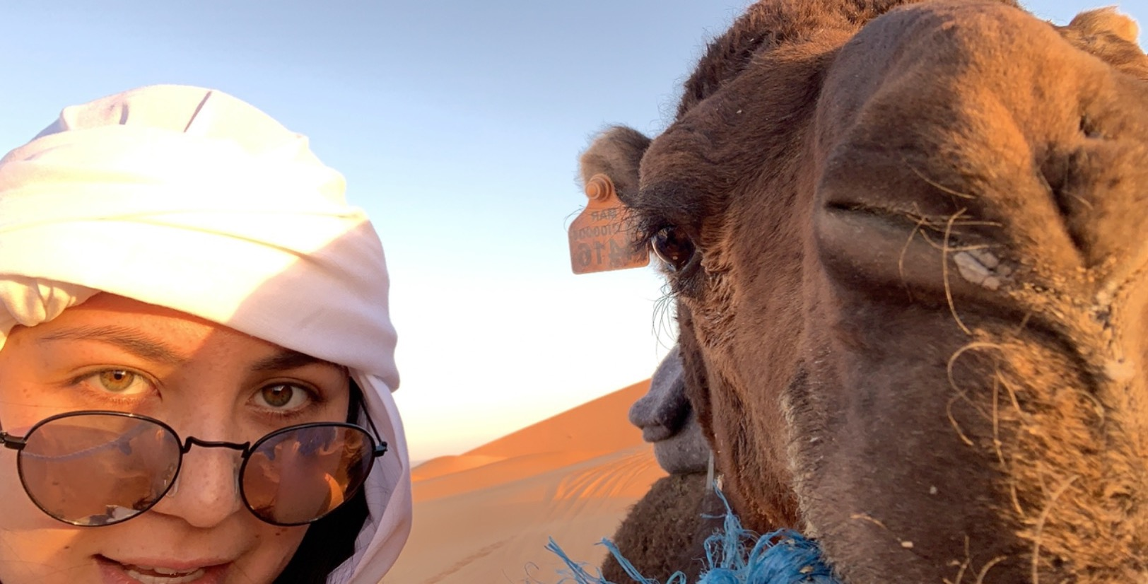 Me and my camel! Photo credit: Lee, 2019