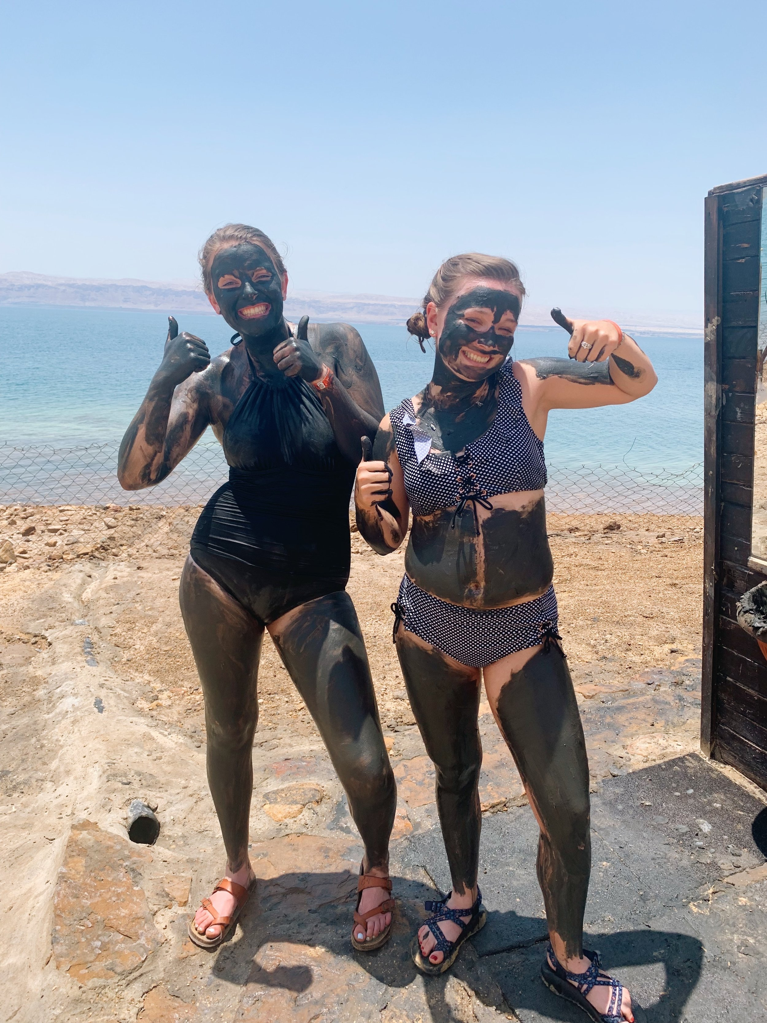 The Dead Sea is another spot that is very popular for tourists to go. There are people of all walks of life there. Clothing-wise, you can honestly wear any bathing suit you like. I forgot a bathing suit and bought a two-piece with a high waist at a mall in Jordan. I felt very comfortable. Most everyone else that was in my group wore a one piece. I actually ended up going back with my mom and sister and my sister wore a regular bikini and she was more than comfortable. If you are not by the pool or the sea, then you may wear some more clothes and you will need a pair of pants/skirt to get and to and from the hotel. Photo credit: Jones, 2019