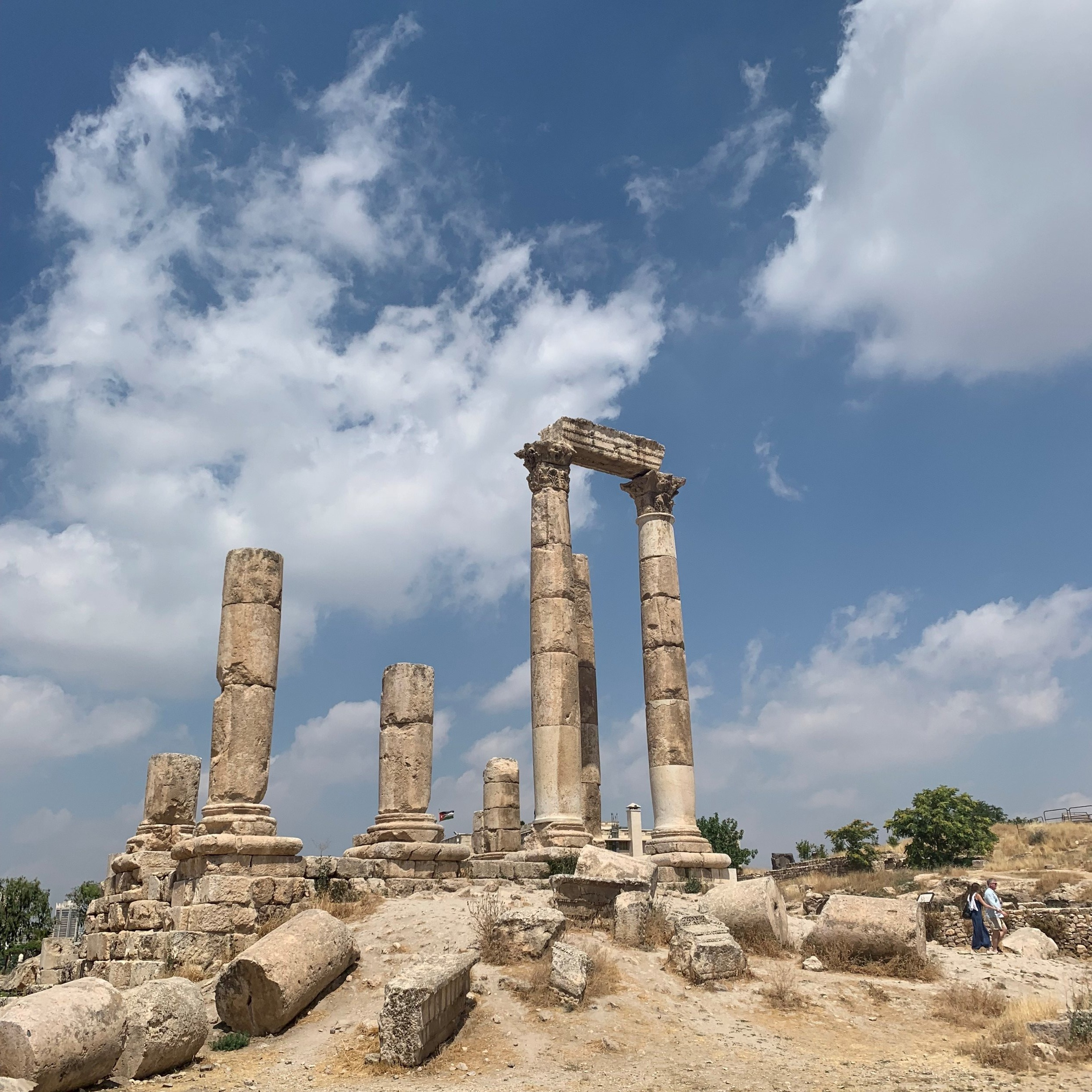 On our city tour of Amman, we saw the Temple of Hercules and the Roman Amphitheater. After this, my standards were super high for Amman and the city continued to surprise me for the rest of my adventure! Photo credit: Russo, 2019