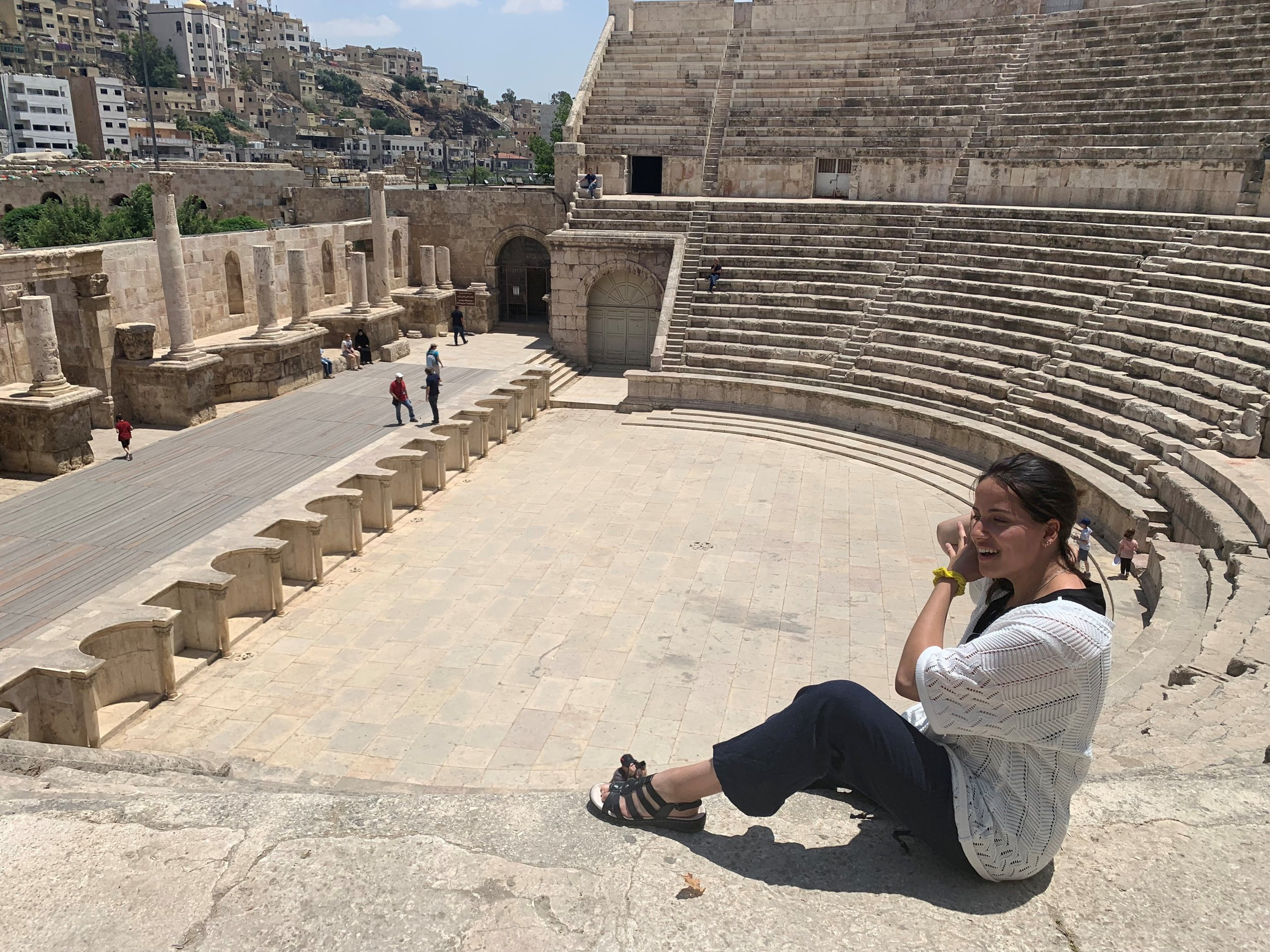 Was really feeling part of my Italian roots here in Amman! The amphitheater was HUGE. I honestly almost wiped out on my way down the steps – Proceed. With. CAUTION! Photo credit: Russo, 2019