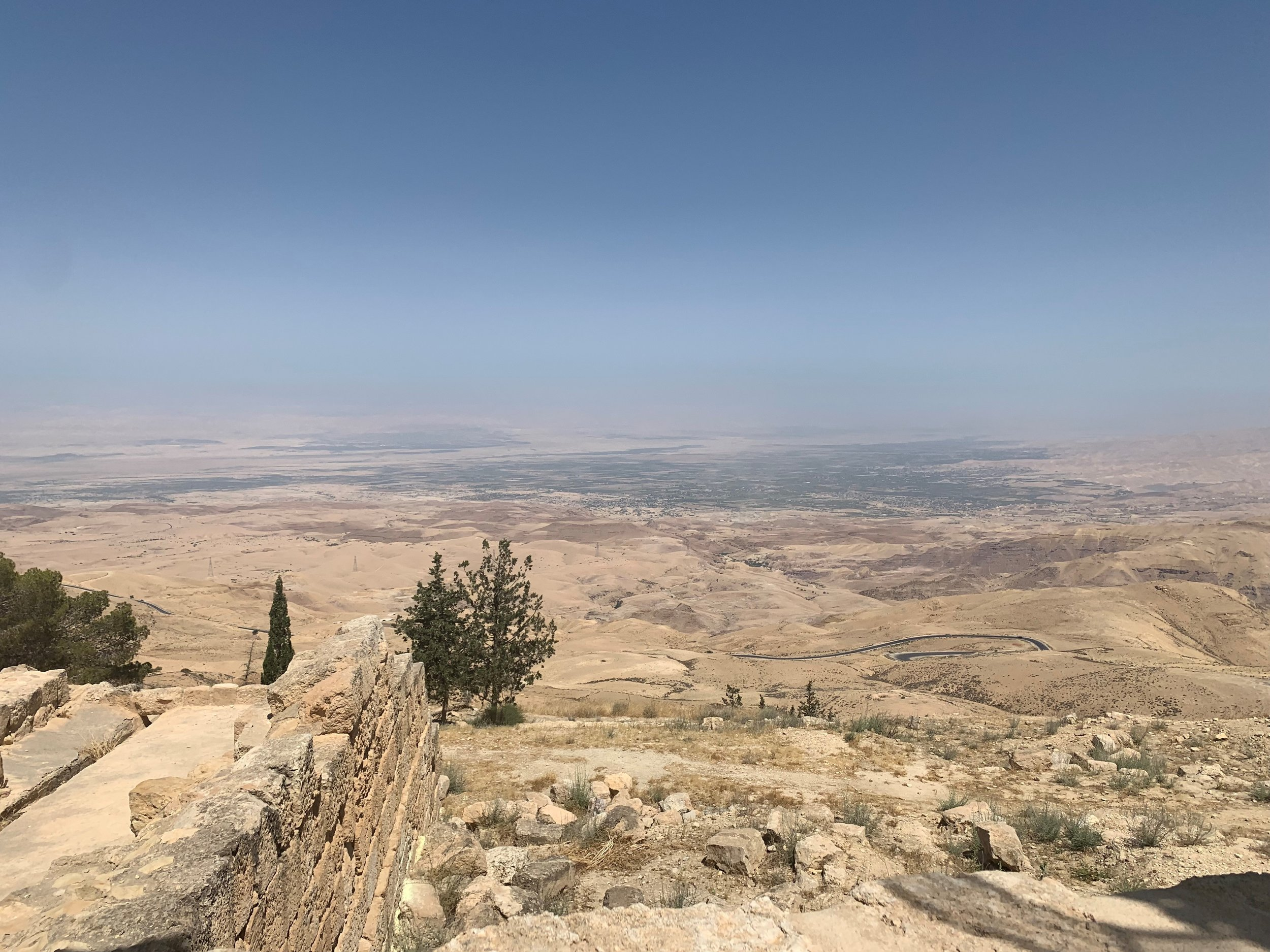 Mt. Nebo. A view I wish to see every time I close my eyes. According to some scriptures, this was where Moses saw the Promised Land before he died. There are a plethora of olive trees and shady spots for when you're elevated in the heat! Photo credit: Russo, 2019