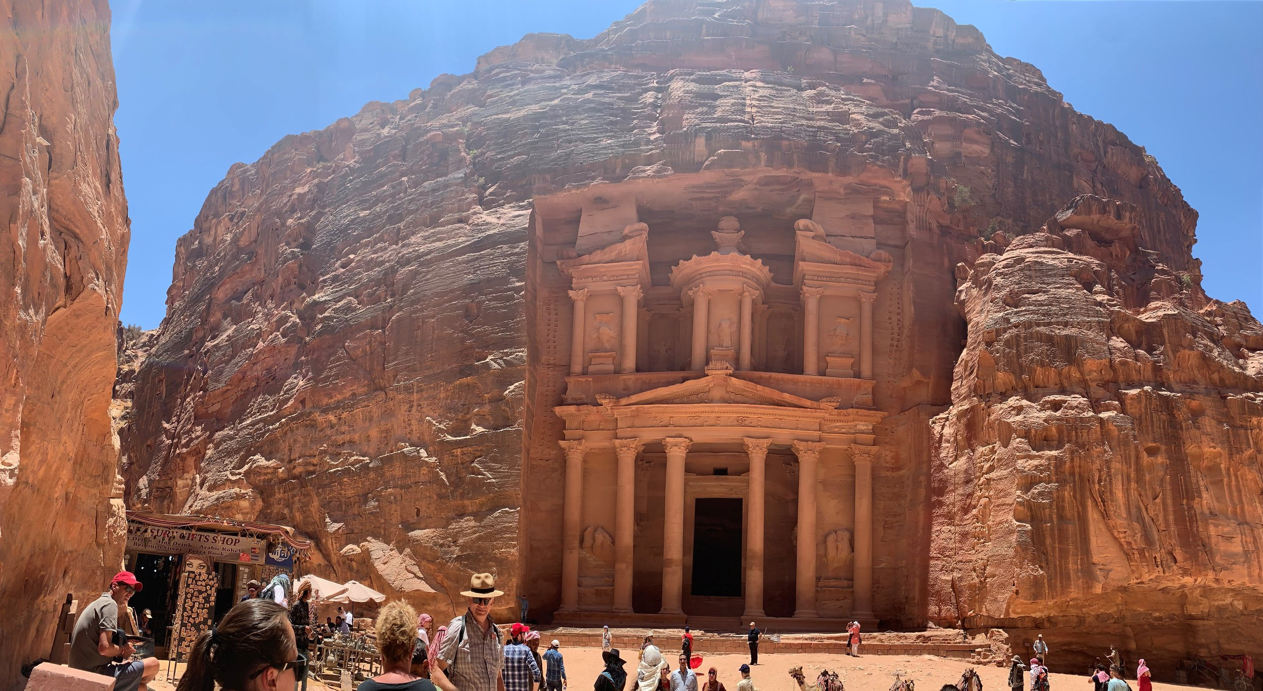 A trip to Petra isn't complete without a picture of the  Khazneh , more commonly called the Treasury. Photo credit: Russo, 2019