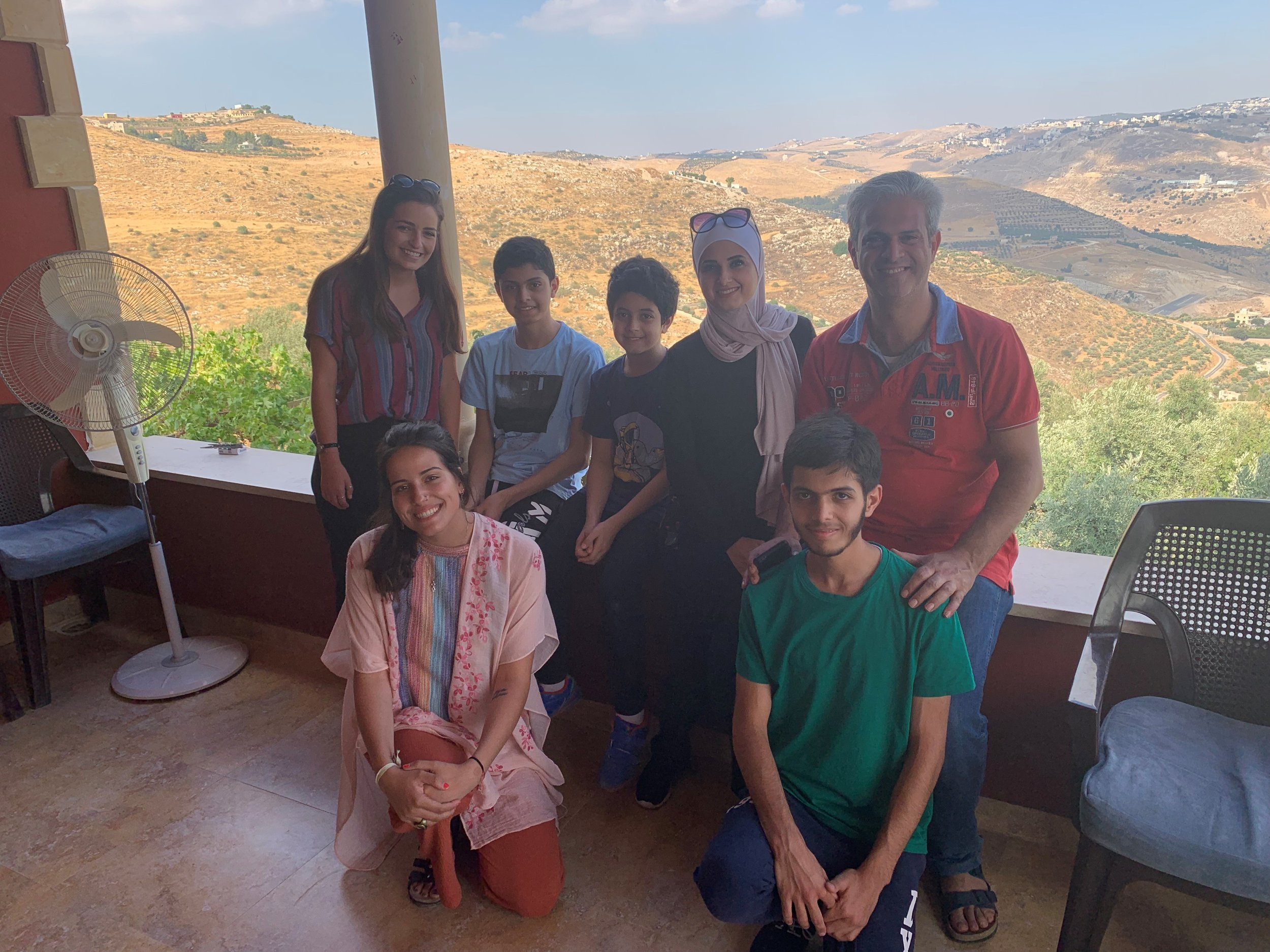 Me and my host family at the mountain house in As-Salt. Photo credit: Russo, 2019