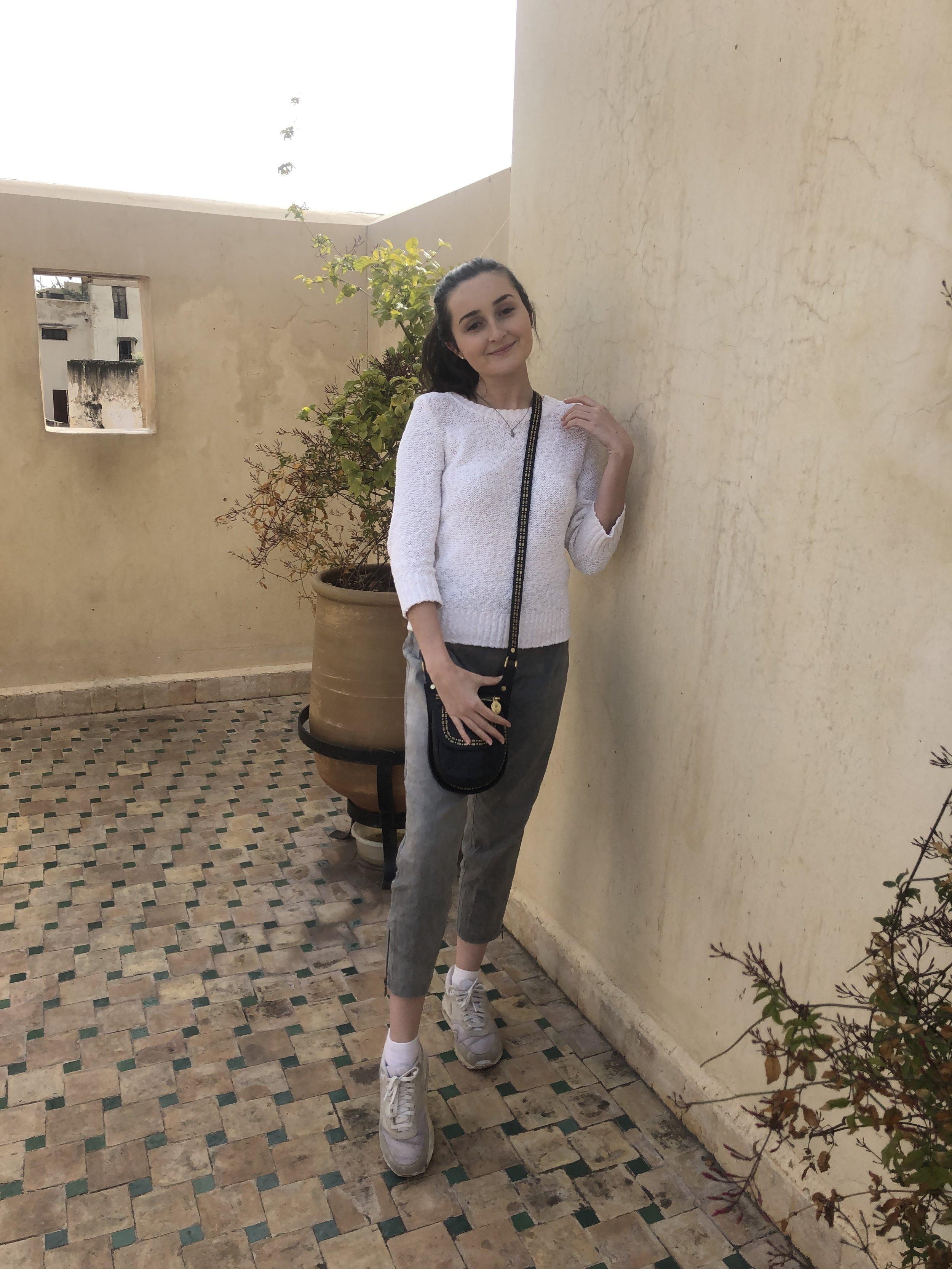 Sara in Morocco. Photo credit: Micare, 2019