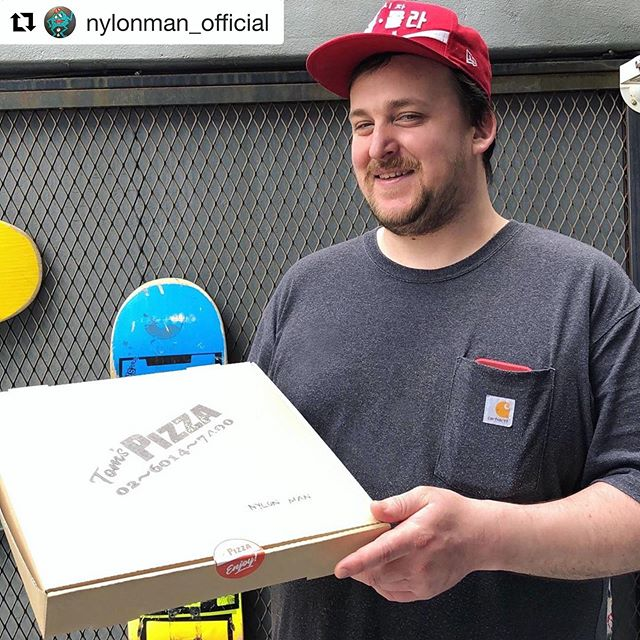 #Repost @nylonman_official with @get_repost ・・・ delivery man looks so familiar 🤭🍕@tomspizzaseoul  #notstoned