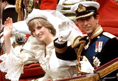 Charles, Prince of Wales and Lady Diana Spencer on their wedding day, July 29, 1981.