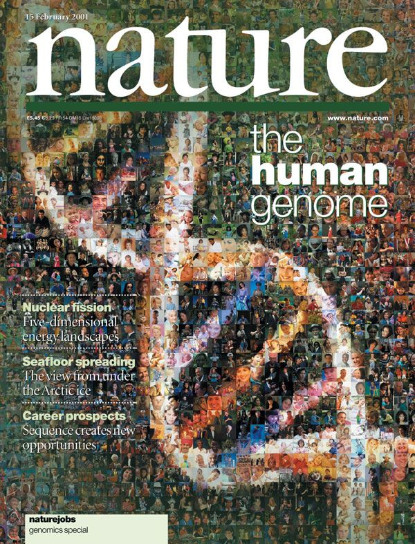 """The February 15, 2001 issue of  Nature  magazine featured publication of the initial sequencing and analysis of the human genome by the Human Genome Project. Quote at the end of the paper:  """"We shall not cease from exploration. And the end of all our exploring will be to arrive where we started, and know the place for the first time."""" —T. S. Eliot"""