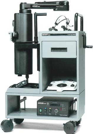 The  Automated Endoscopic System for Optimal Positioning (AESOP) , produced by Computer Motion Inc.