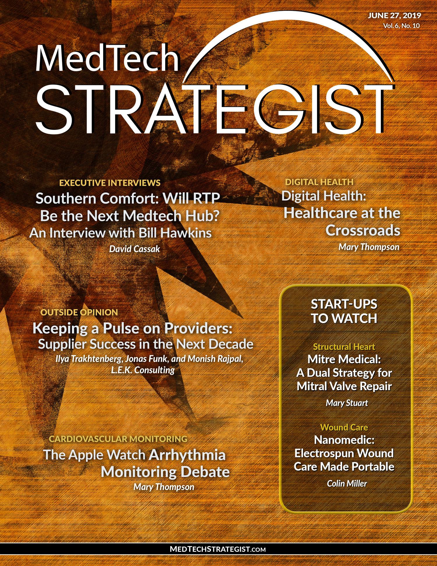 Issue - June 27, 2019 — MedTech Strategist