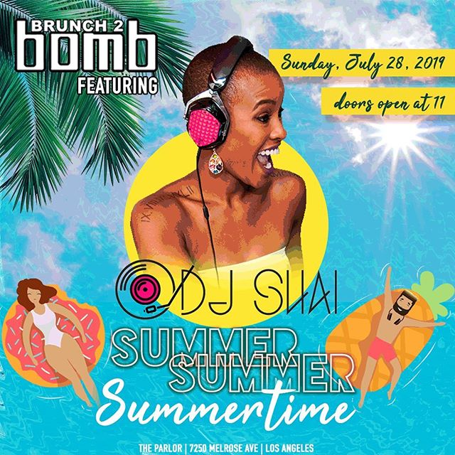 It's showtime! See you today at @theparlorhw for a pop-up party with opening DJ set by a #B2BfamilyOG @dj.shai at 11am! See you soon! #summersummersummertime #brunch2bomb  Need a ticket?  Same day tickets available at the door.  See a member of our team for assistance!