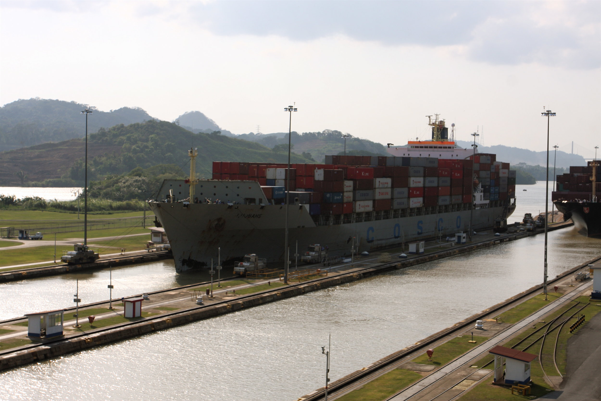 COSCO Ship Panama (old canal) - TravelingOtter.jpg