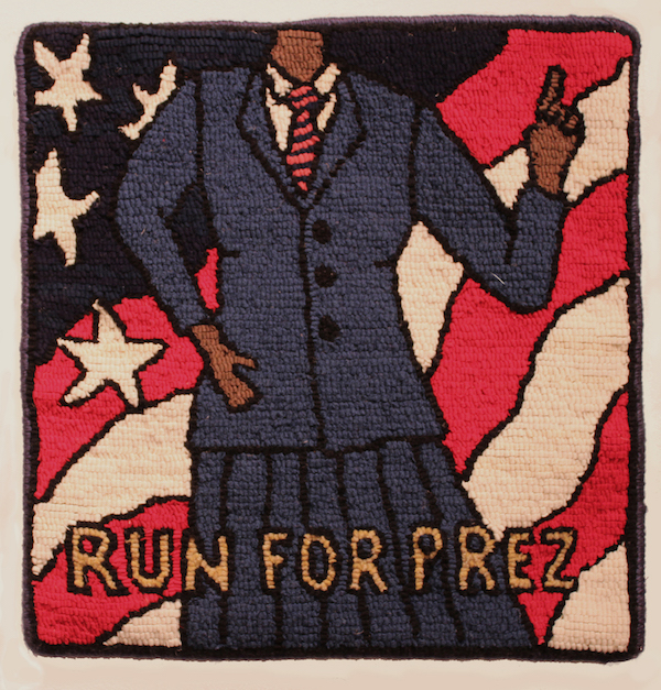 "Photo courtesy of artist Jill St. Coeur: ""Run for Prez."""