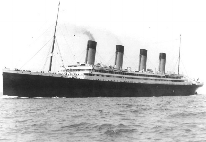 RMS Olympic  on her sea trials in Belfast, 1911