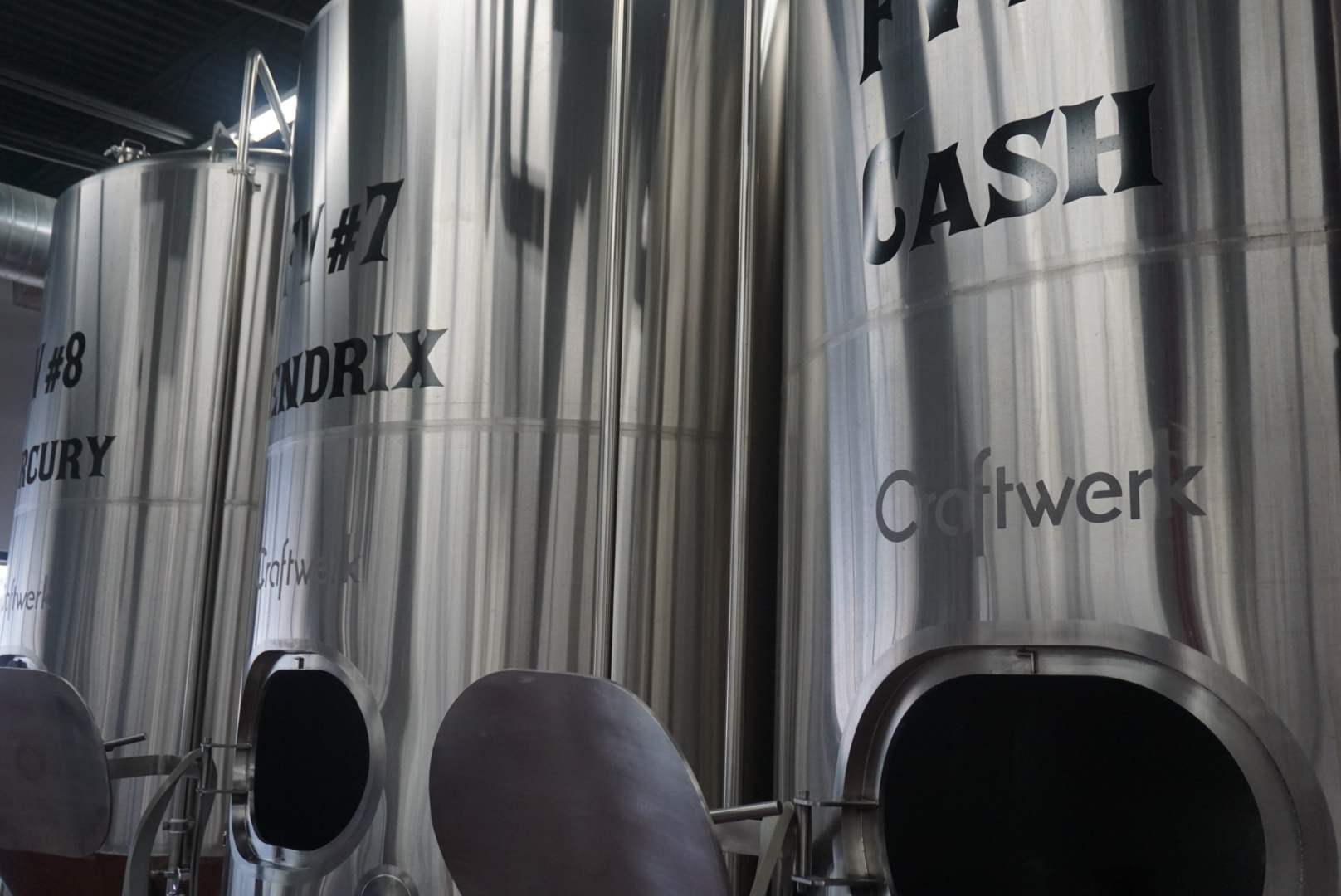 Our Equipment - Bald Man Brewing has purchased a 20bbl stainless steel two vessel brew house that is produced 100% domestically in Oregon by JVNW. We opened with in August 2016  with five 40bbl fermenters (named Page, Prince, Clapton, Jagger & Angus) and  one 40bbl bright beer tank (DeYoung). We have purchased our equipment in anticipation for our growth by purchasing our brewing platform piped in already for a 3 & 4 vessel system for a quick expansion of the existing system. In the summer of 2017, we added 3 additional 40bbl fermenters (Cash, Mercury & Hendrix) and another brite tank (Jett) to keep up with the demand created for our Artisan beers.  We have selected our site as it has ample room for additional fermenters and bright tanks to be added as needed so we plan to be at our Eagan location for a long time.