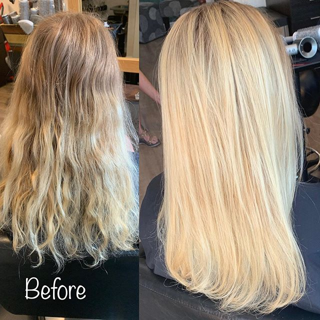 Check out that blond transformation! Brought her back to the bright blond she wanted to be! #highlights #foils #blondeshavemorefun #basaltcolorado #hairstylist #lovewhatyoudo