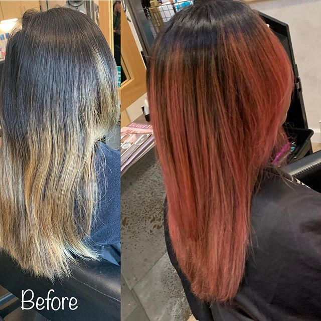 Check out the fun we had with this client. #pinkhair #balayage #goldwellcolorance #hairstylist