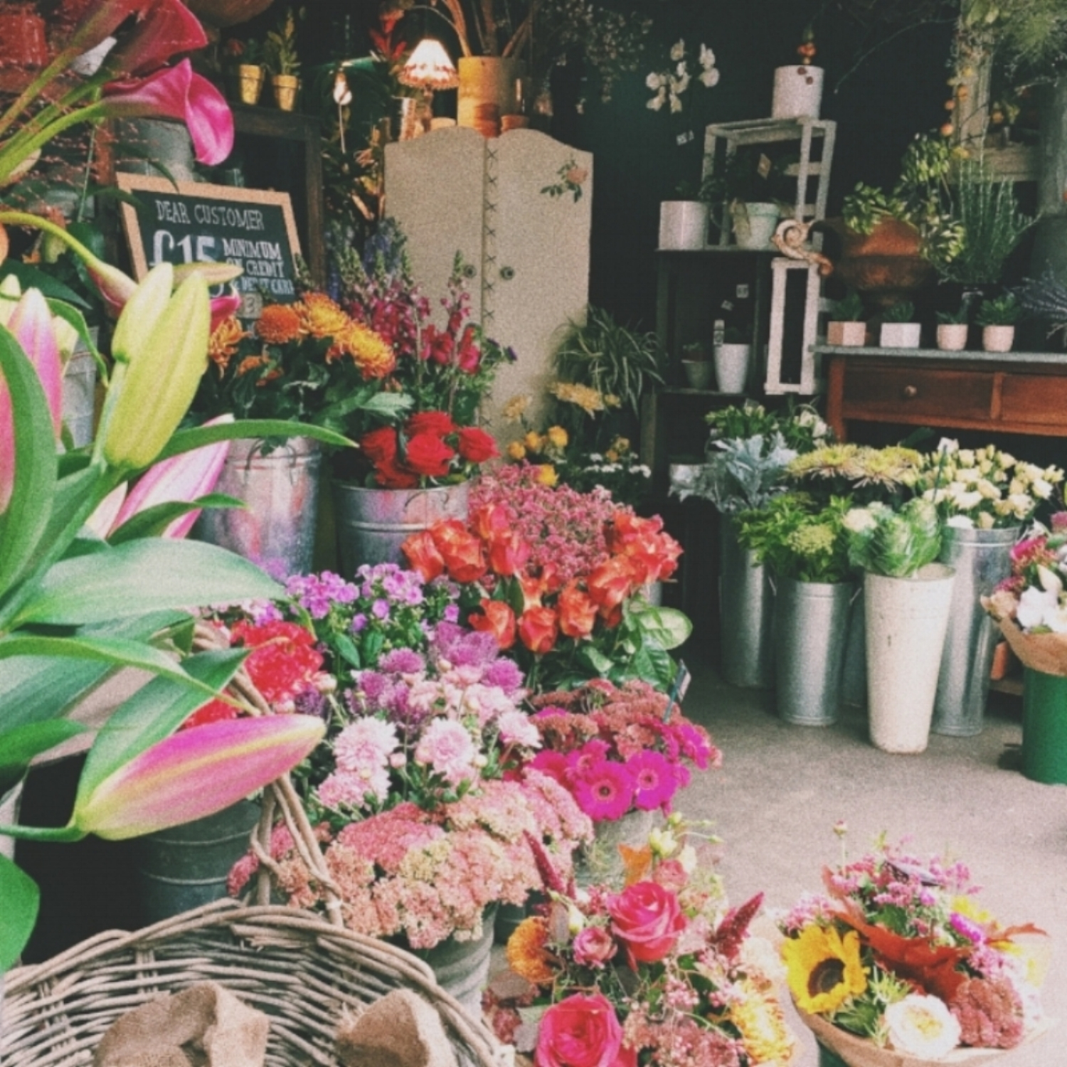 A beautiful flower shop in Borough Market