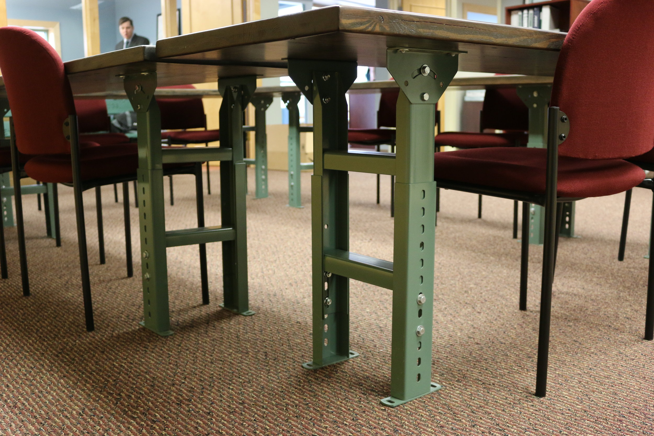 Sangamon Reclaimed Springfield Illinois Reclaimed wood table legs Illinois Environmental Council.JPG