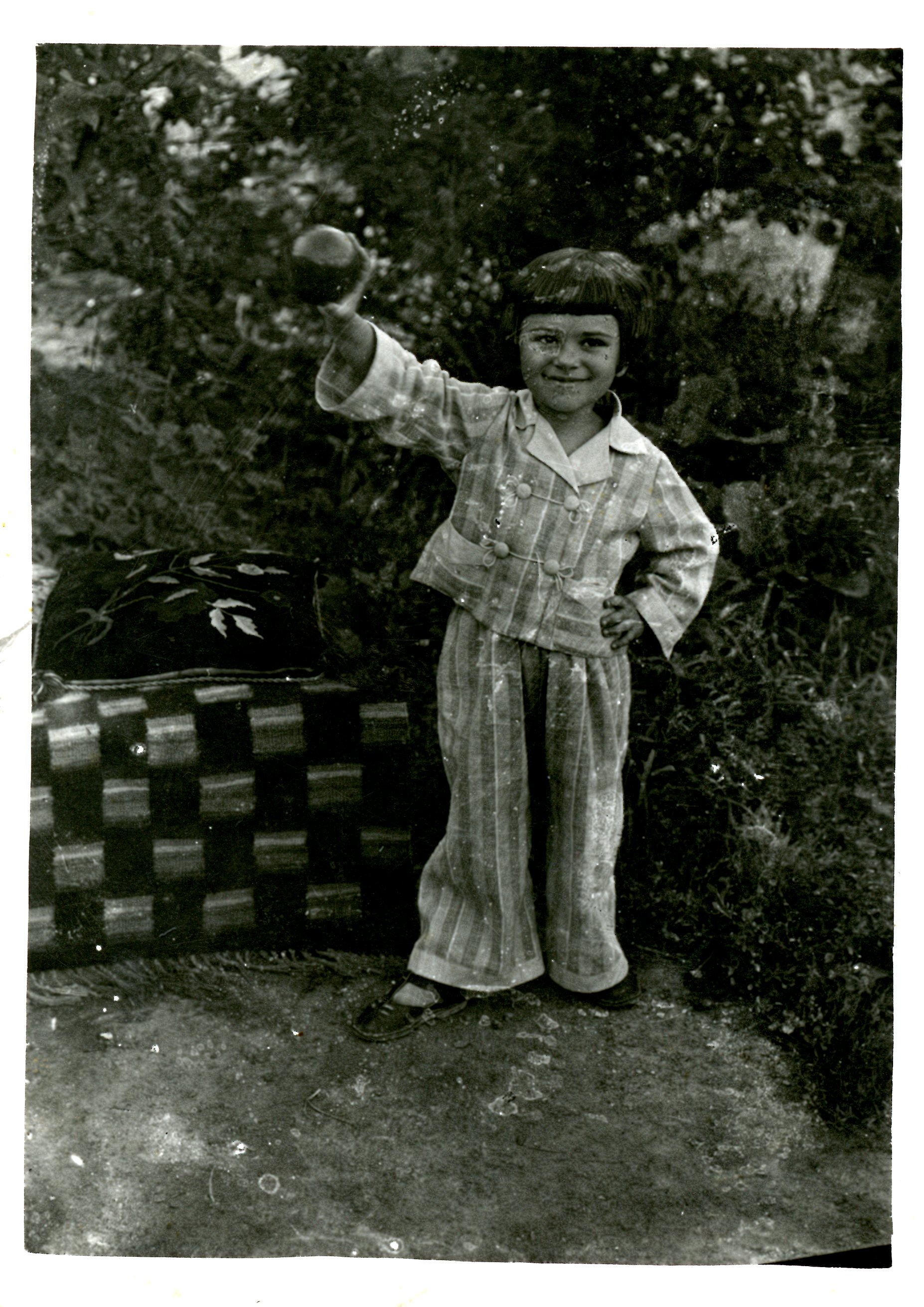 1938 - Khana in pajamas in Soroka