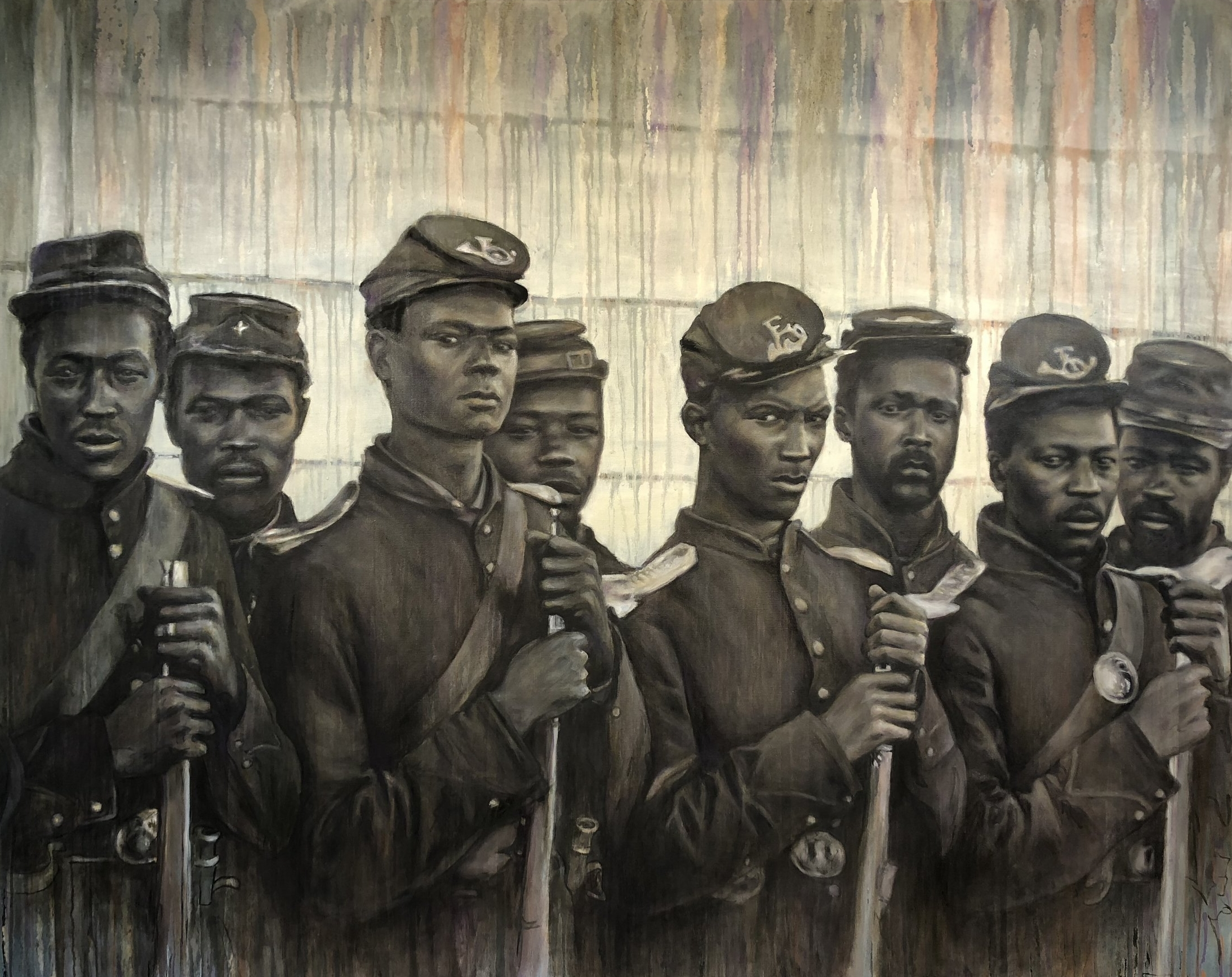 """""""Buffalo Soldiers"""" 48x60"""" oil on canvas"""