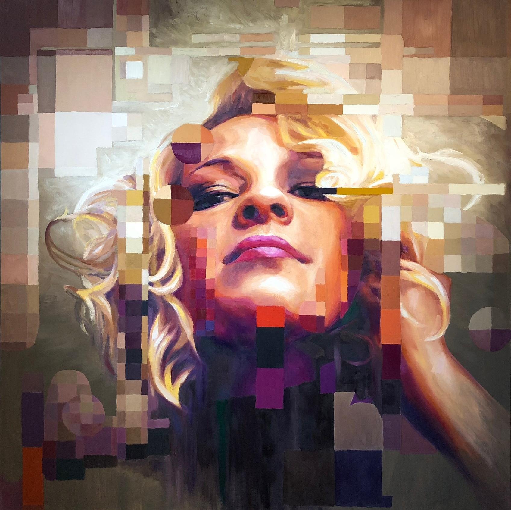 """""""Meg"""" 48x48"""" oil on canvas"""