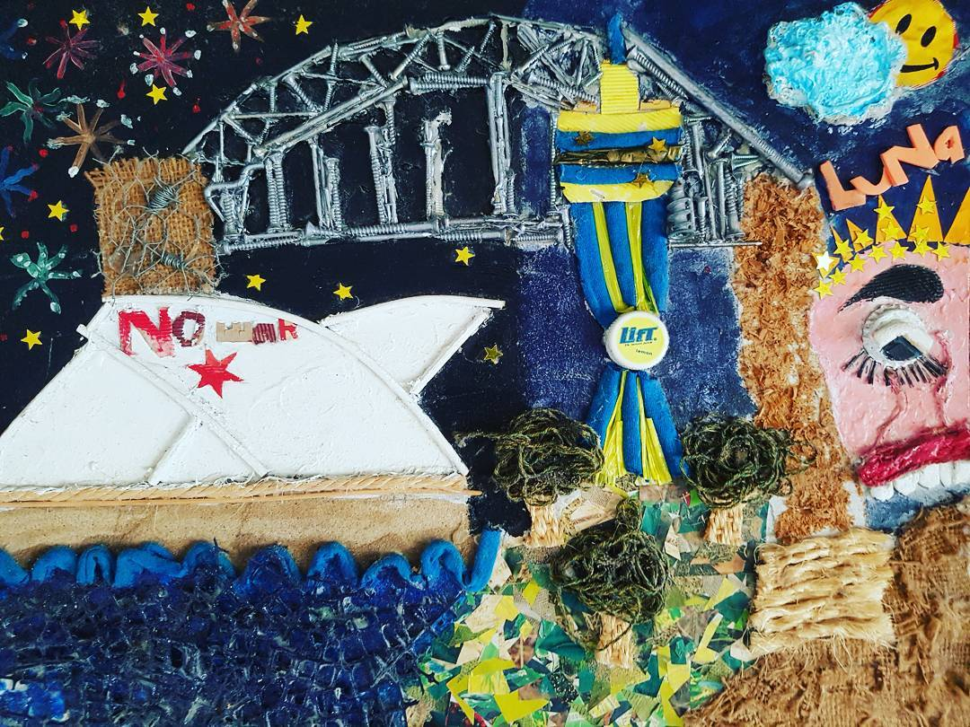13 Year Old Me depictation of Sydney Harbour in 2003