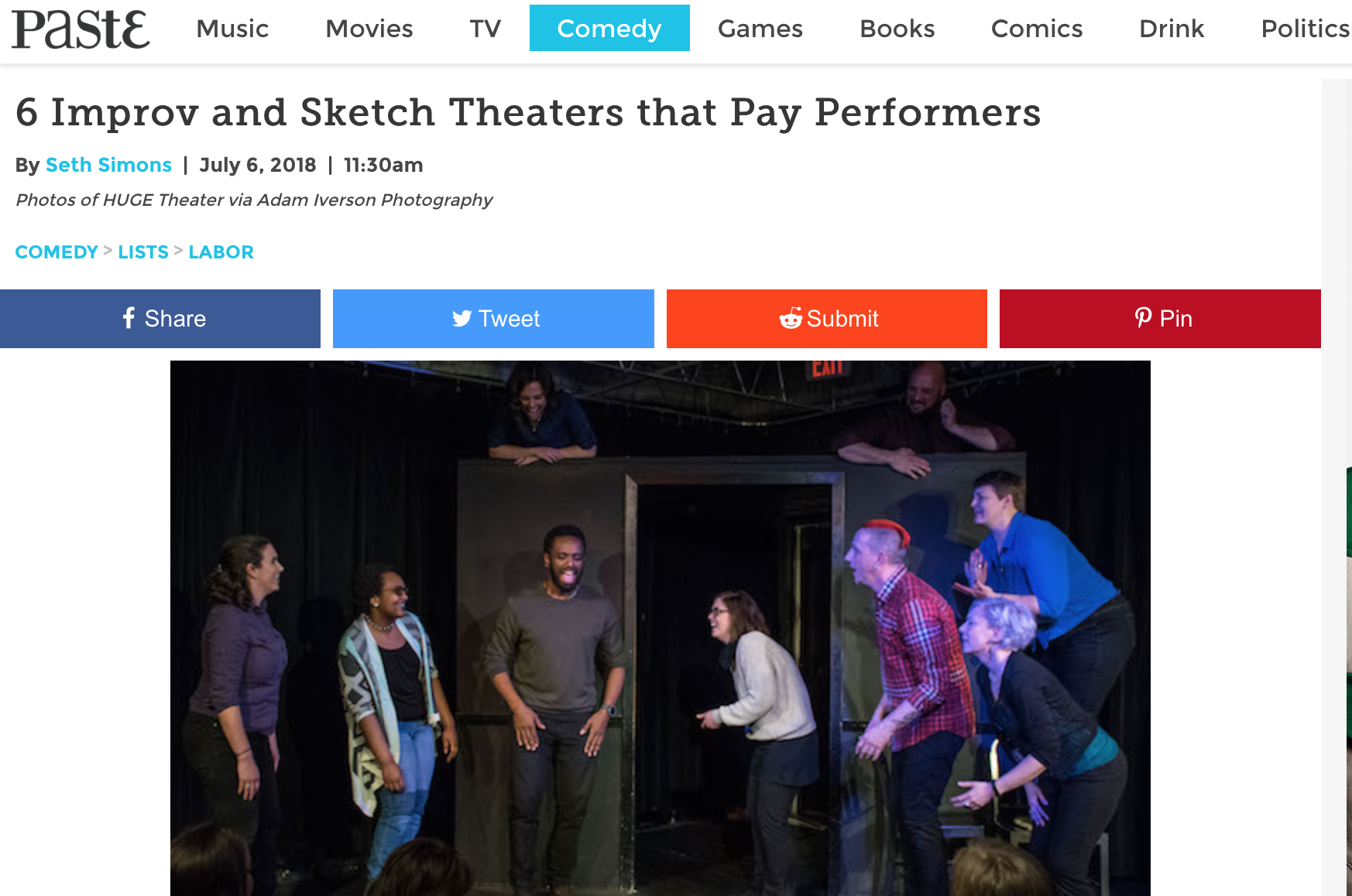 brooklyn comedy collective in paste magazine