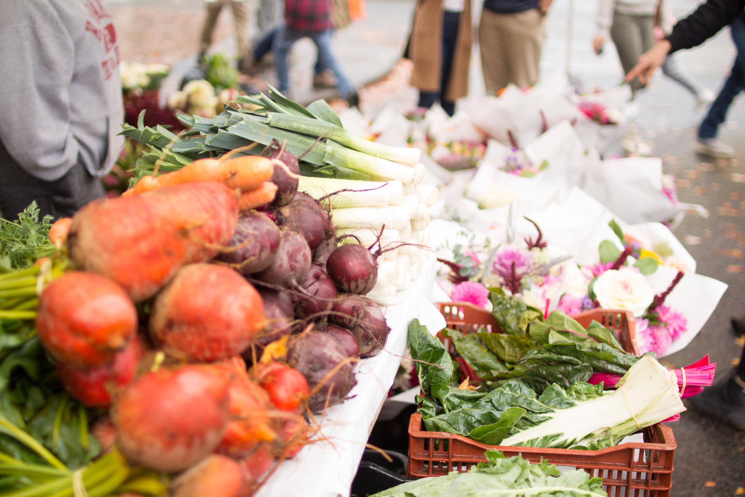 Farm fresh produce at the Ballard Farmers Market