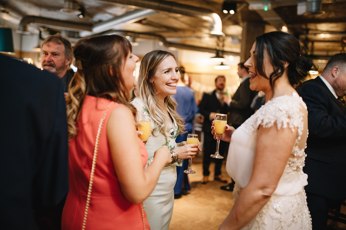 bride talking to her guests at Couch Sheffield