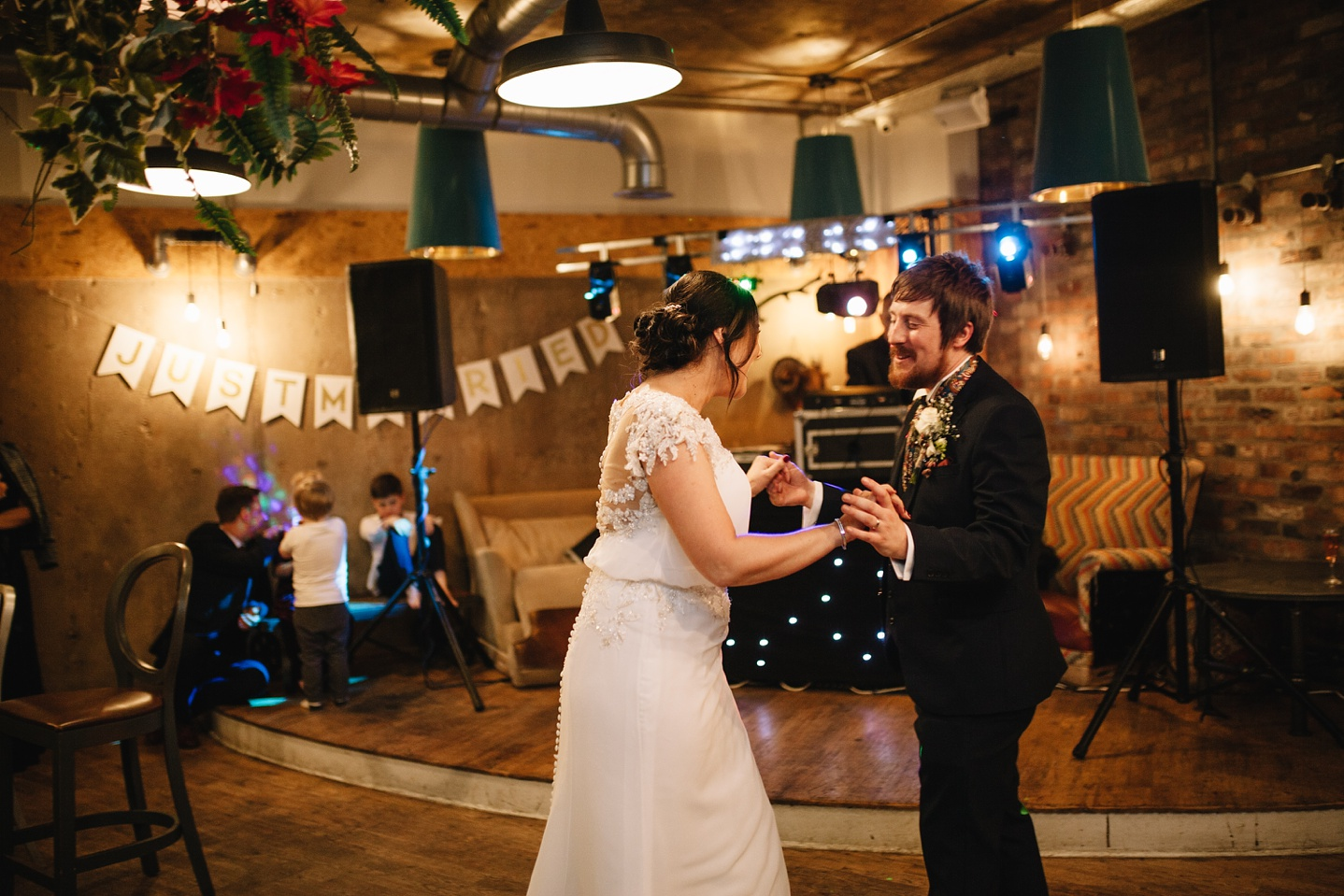 Bride and groom dancing their first dance at Couch Sheffield