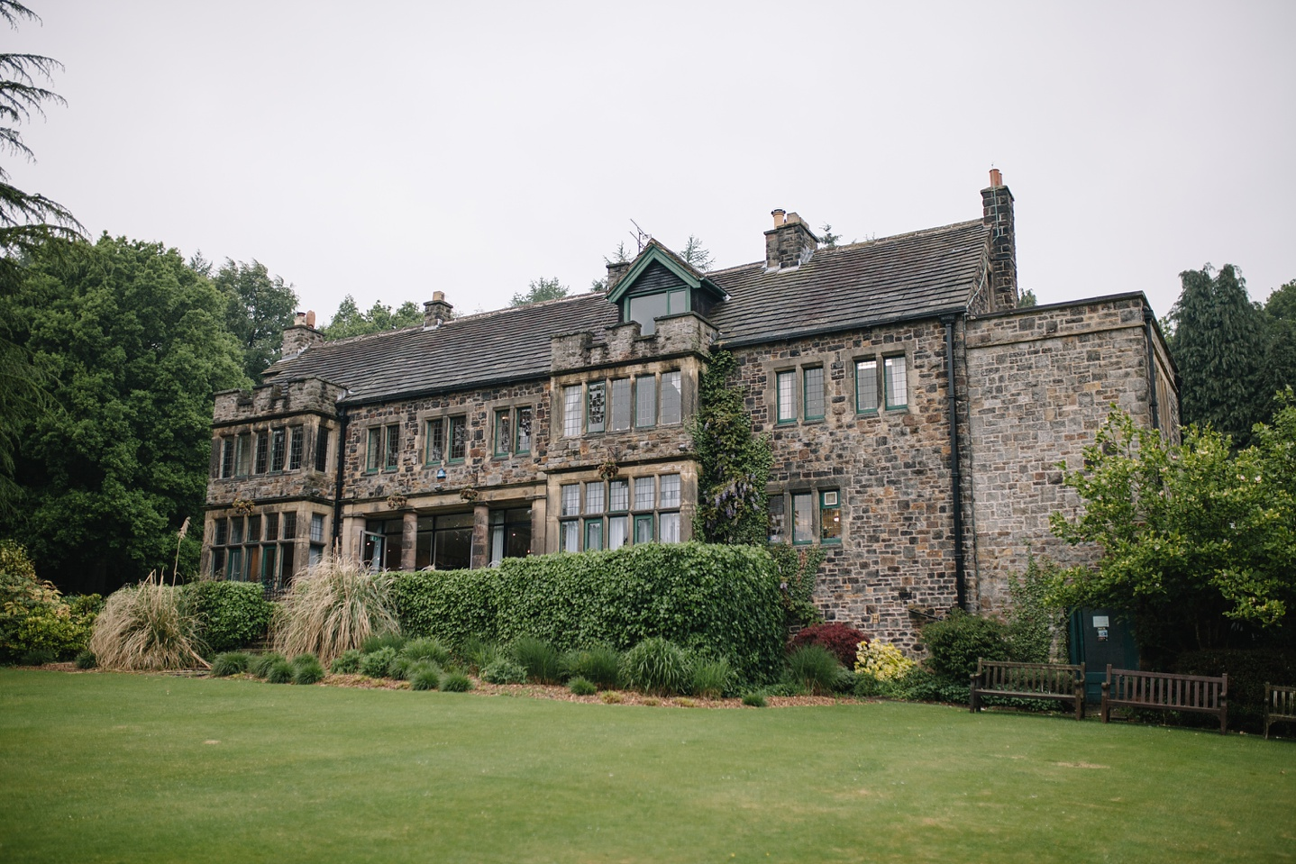 whirlowbrook hall with view of gardens