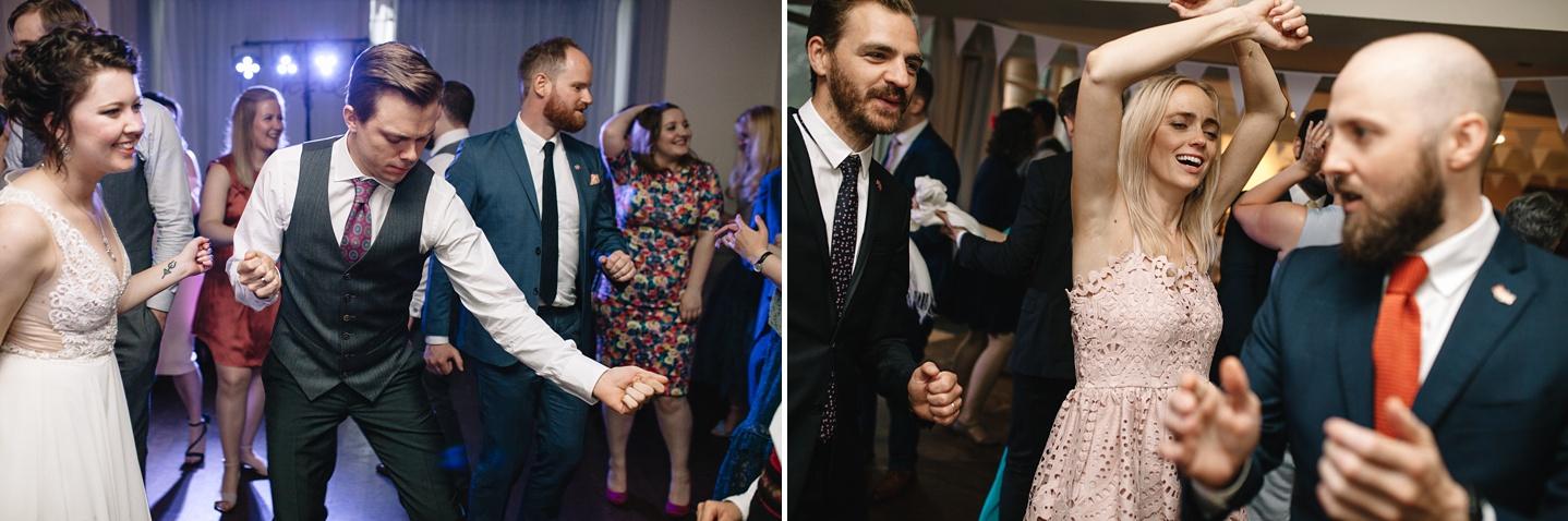 groom and grooms sister dancing