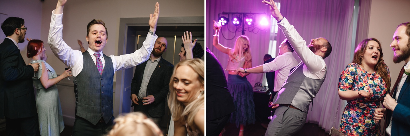 guests dancing on the dancefloor at Whirlowbrook Hall