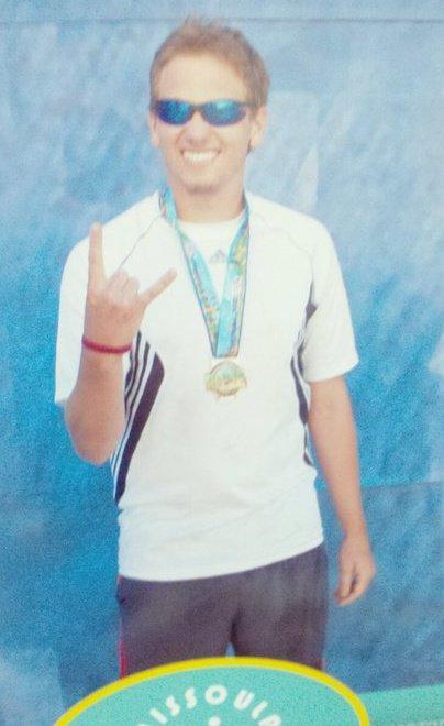 A young Mack, super excited on finishing his first Marathon - Missoula, Marathon 2011. Full Marathon time 4:12:19