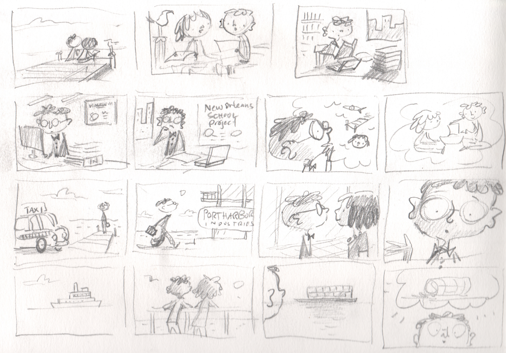 Original storyboard by Peter H. Reynolds