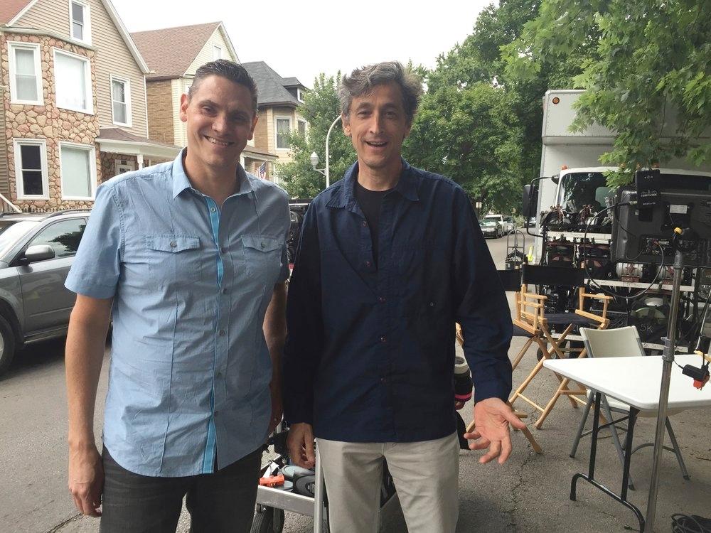 Brad and David Pasquesi shooting TEN MORE.