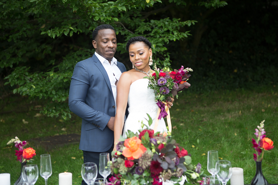 Multicultural Wedding styling with natural floral design