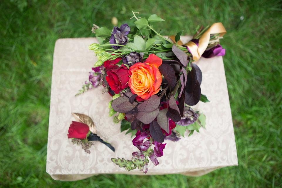 Red Burgandy Wedding Bridal Bouquet