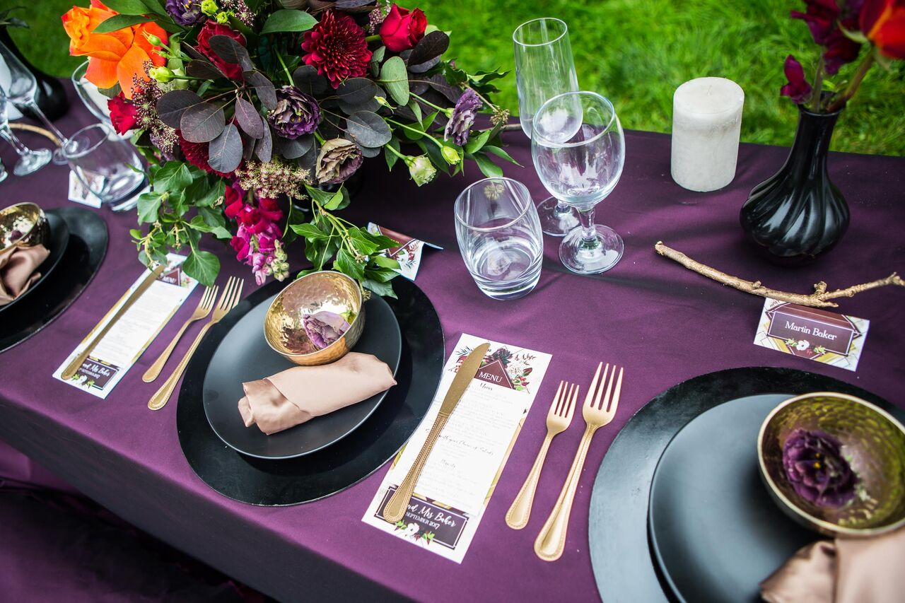 Wedding floristry and styling, Jewel tones, Crystal Palace, London