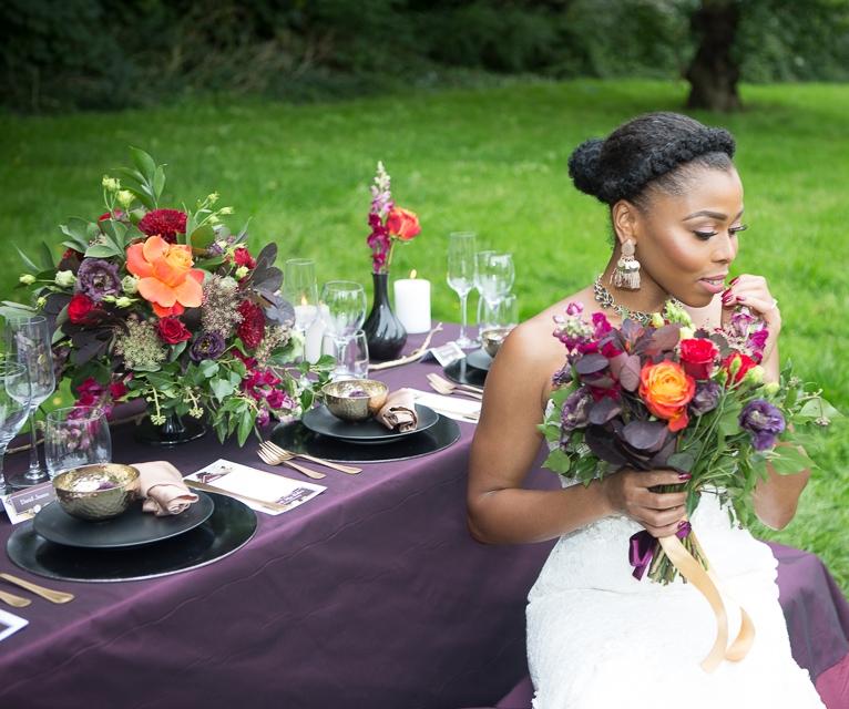 Jewel tones wedding decor