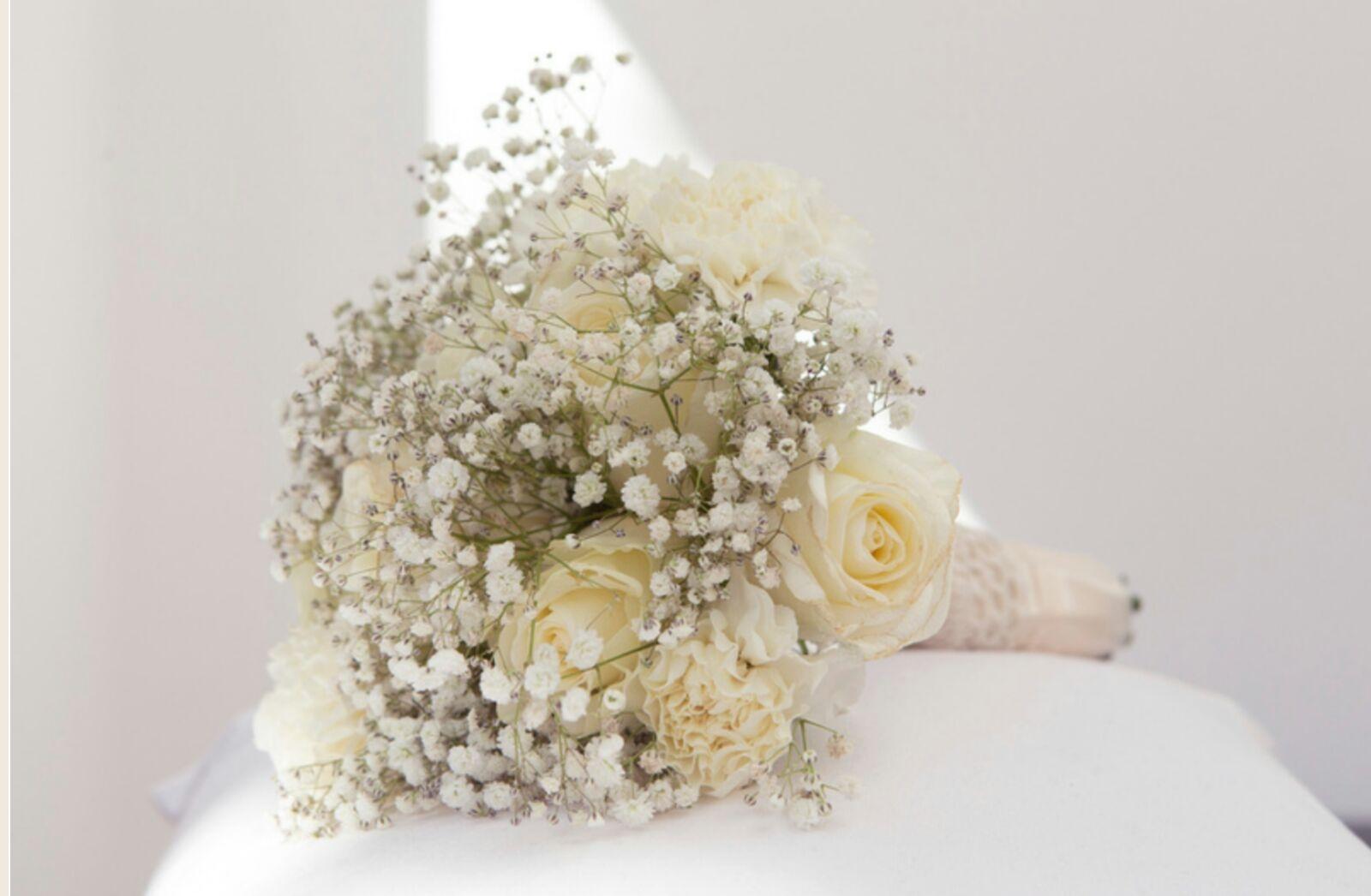 Pastal Roses Wedding Bouquet