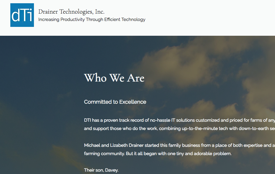 About Page Web Copy for Drainer Technologies