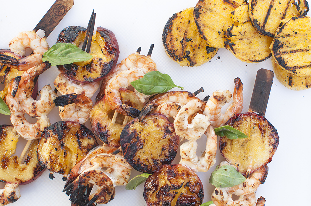 Grilled peaches with shrimp.jpg